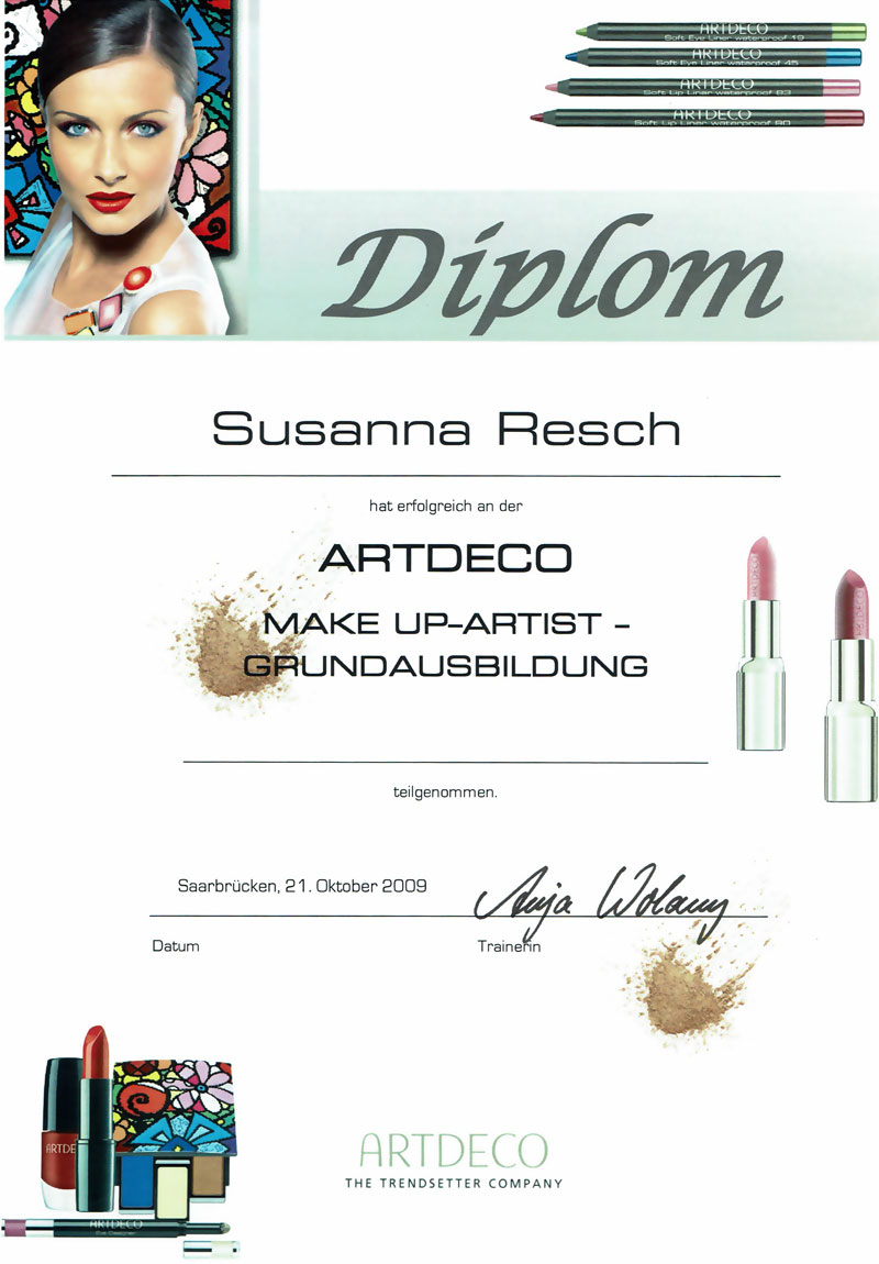 Artdeco Zertifikat